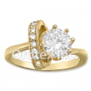 R074 Gold Layered CZ Ring