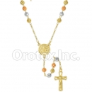 RN 001 Gold Layered Tri-Color Rosary