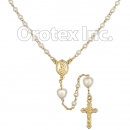 RSR001 Gold Layered Pearl Rosary