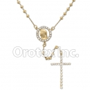 RSR009 Gold Layered CZ Rosary