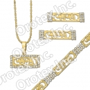 S 004 Gold Layered CZ Set