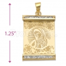 Oro Tex Gold Layered CZ Guadalupe Charm