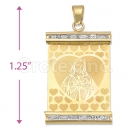 Oro Tex Gold Layered CZ Sagrado Corazon Charm