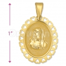 Oro Tex Gold Layered Sagrado Corazon Charm