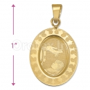 Oro Tex Gold Layered Baptism Charm