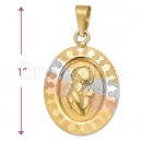 Oro Tex Gold Layered Tri-color First Communion Charm