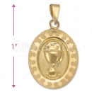 Oro Tex Gold Layered First Communion Charm