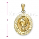 Orotex Gold Layered Charm