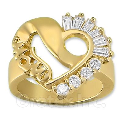 004010 Gold Layered CZ Women's Ring