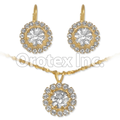 007010 Gold Layered CZ Set
