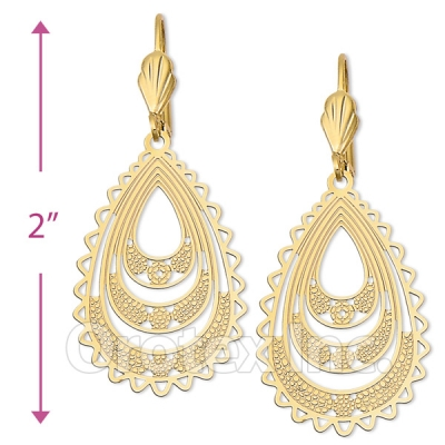 061006 Gold Layered Long Earrings