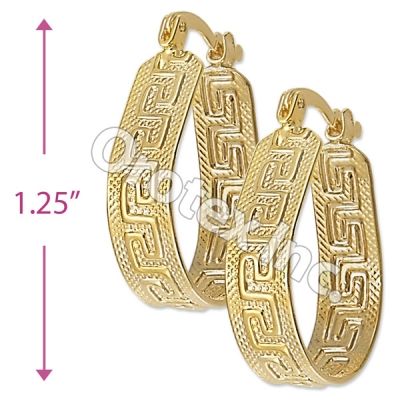EH083 Gold Layered Hoop Earrings