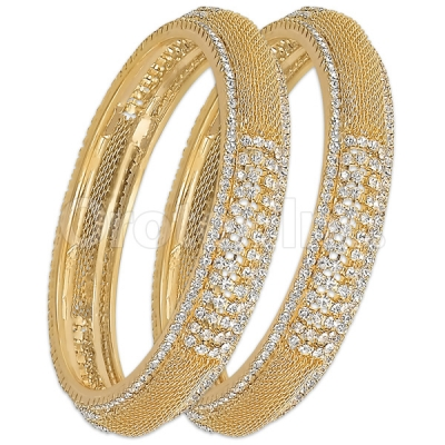 GLG151 Gold Plated CZ Bangle
