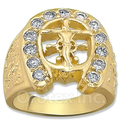 Orotex Gold Layered CZ Men's Ring