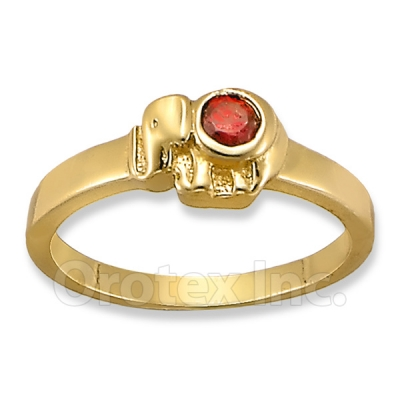 Orotex Gold Elephant Kid's Ring