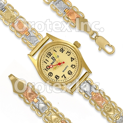 GLW 001 Gold Layered Tri-Color Watch