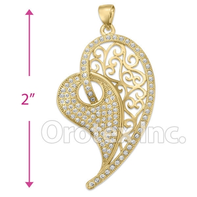 P 002 Gold Layered CZ Charm
