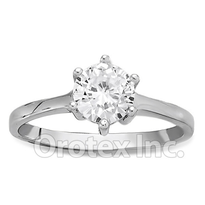925 Sterling Silver CZ Women's Ring