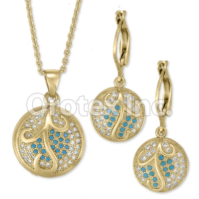 S 068 Gold Layered CZ Set
