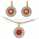 007012 Gold Layered CZ Set