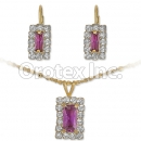 007015 Gold Layered CZ Set