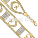 022009 Gold Layered CZ Bracelet