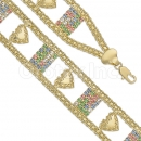 023001 Gold Layered CZ Bracelet