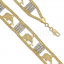 024001 Gold Layered CZ Bracelet