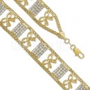 024003 Gold Layered CZ Bracelet