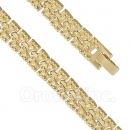024004 Gold Layered Fancy W Bracelet