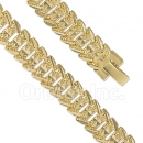 024006 Gold Layered Fancy W Bracelet