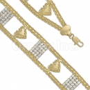 024007 Gold Layered CZ Bracelet