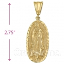 Oro Tex Gold Layered Guadalupe Charm