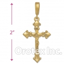 039019 Orotex Gold Layered Charm