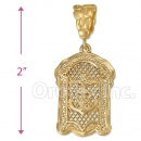 Oro Tex Gold Layered Diamond Cut Charm