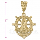 Oro Tex Gold Layered Anchor Charm