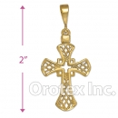 041020 Orotex Gold Layered Charm