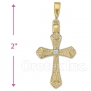 Oro Tex Gold Layered CZ Cross
