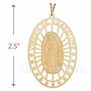 042001 Gold Layered Guadalupe Charm
