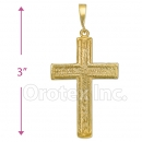 Oro Tex Gold Layered Cross Charm