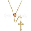 047002 Gold Layered Diamond Cut  Rosary