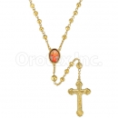047006 Gold Layered Diamond Cut  Rosary