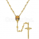 051001 Gold Layered Rosary