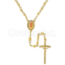 051004 Gold Layered Rosary