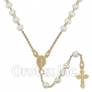051009 Gold Layered Pearl Rosary