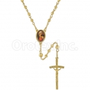 052002 Gold Layered Diamond Cut Rosary
