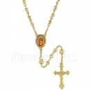 053001 Gold Layered Diamond Cut  Rosary
