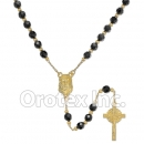 055002 Gold Layered Black Rosary