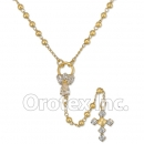 056001 Gold Layered CZ Rosary