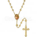 058004 Gold Layered Diamond Cut  Rosary